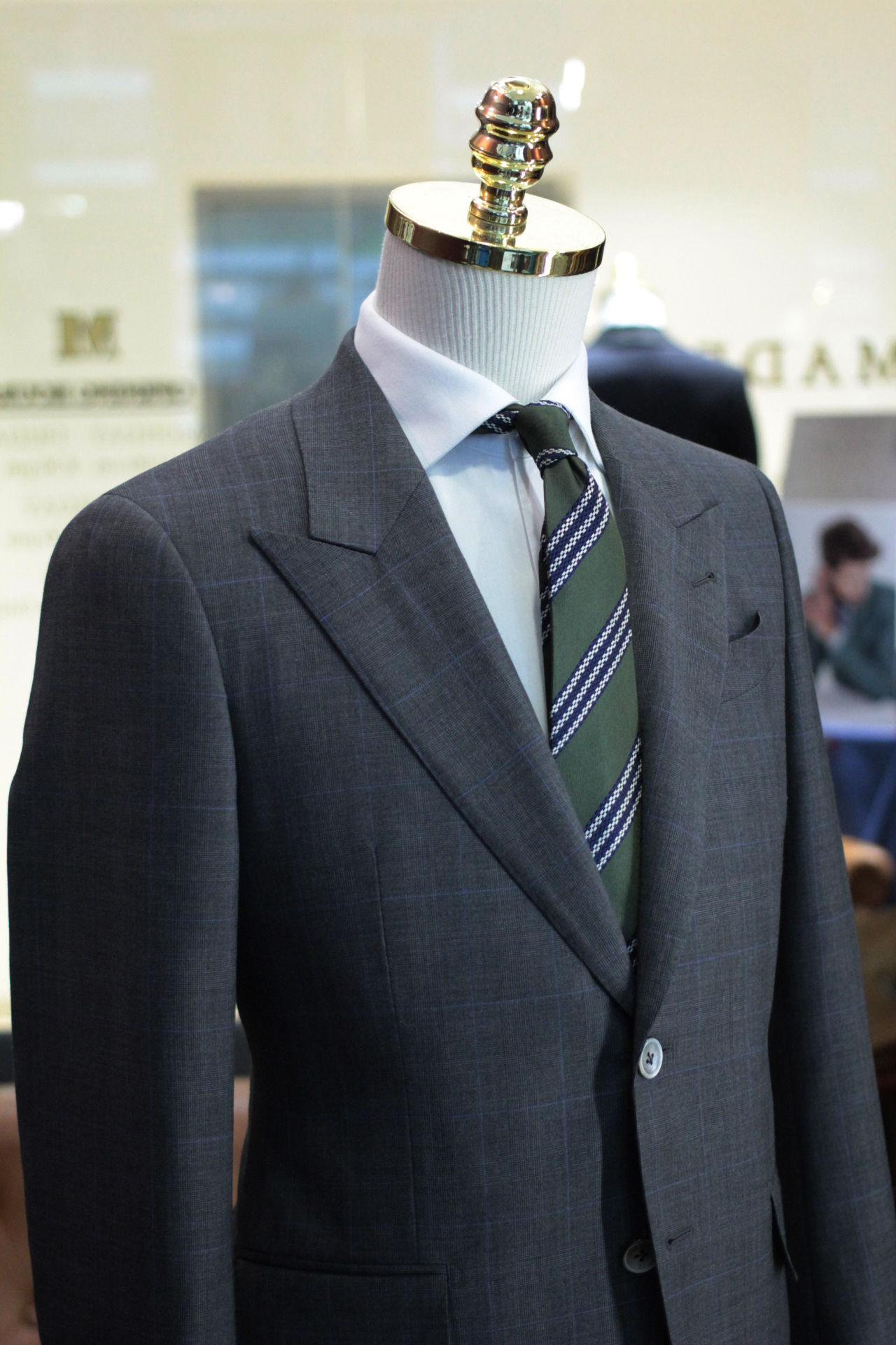 Front New York | DRAGO S.P.A | Vantage Super 130s | Tailor Made Suits Singapore Prince of Wales Checks.JPG