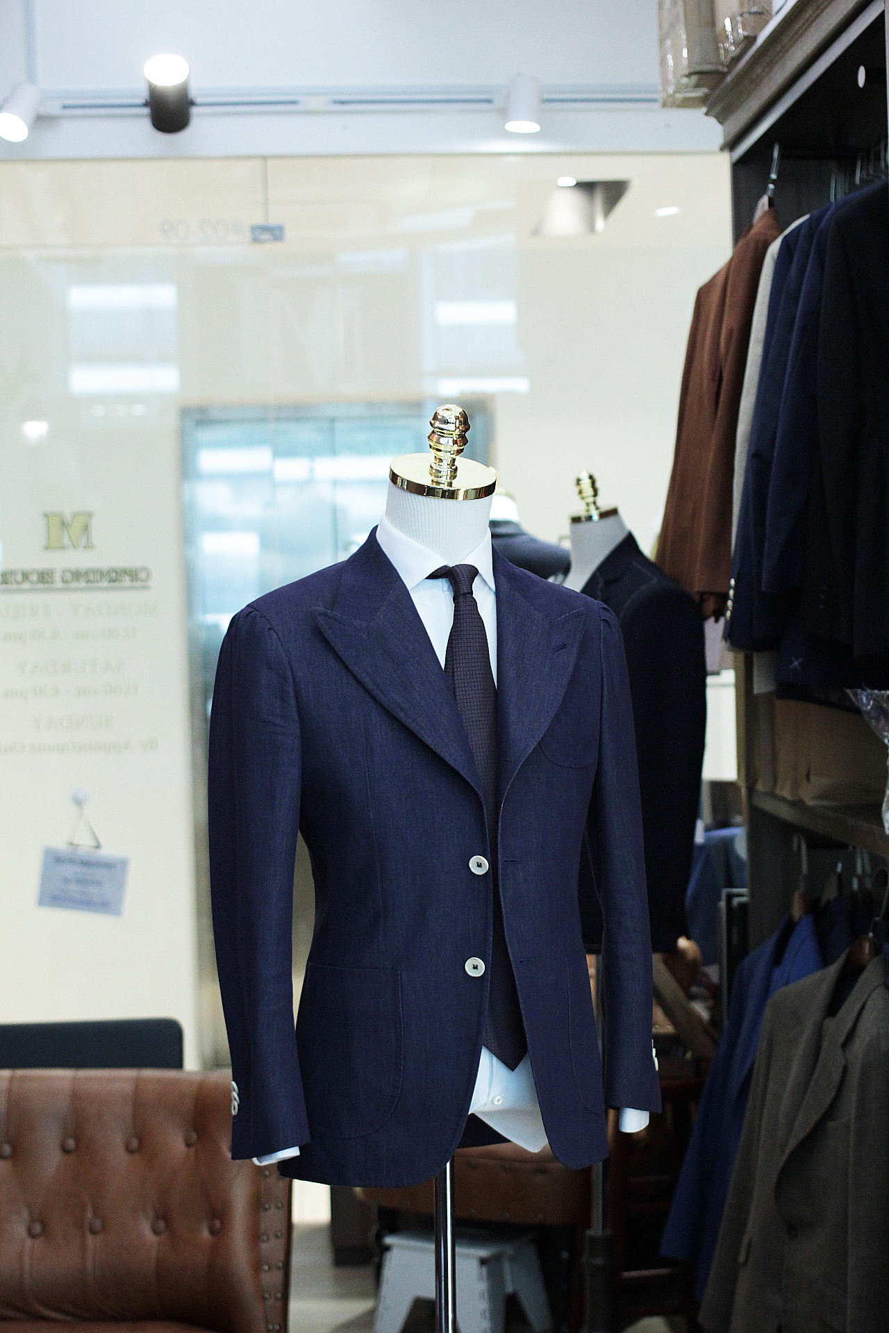 Taylord   Soktas   Denim Suit   Made Suits Singapore   Bespoke Denim Blazer Suits Side.JPG