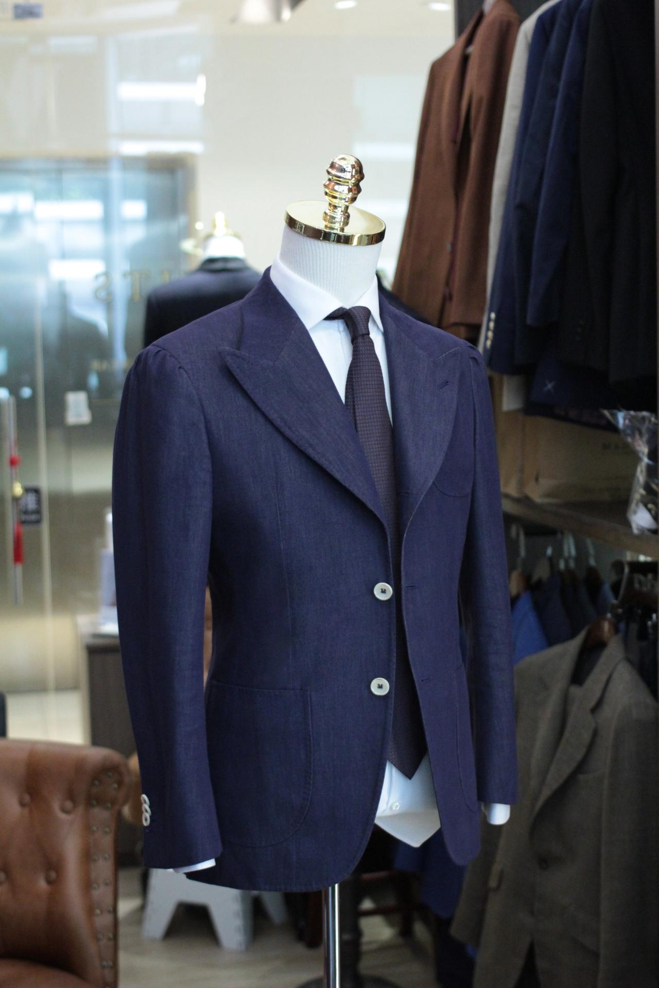 Taylord   Soktas   Denim Suit   Made Suits Singapore   Bespoke Denim Blazer Suits Side Soktas Singapore.JPG