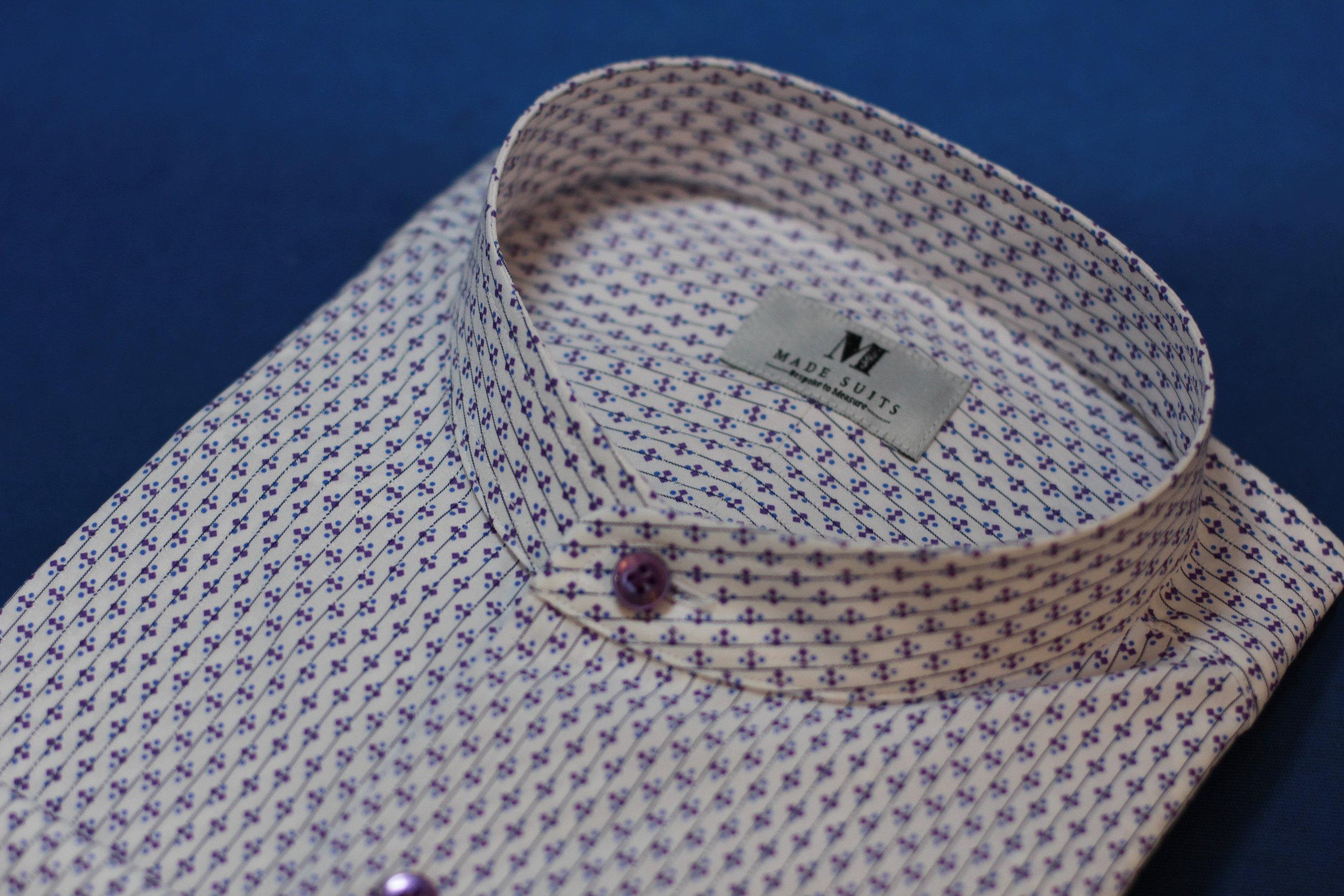 Purple Ribbons Mandarin Collar Side.JPG