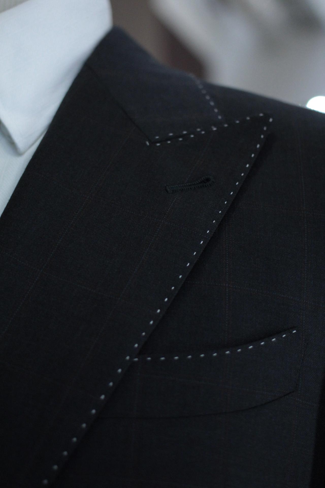 White Pic Stitching with barchetta pocket