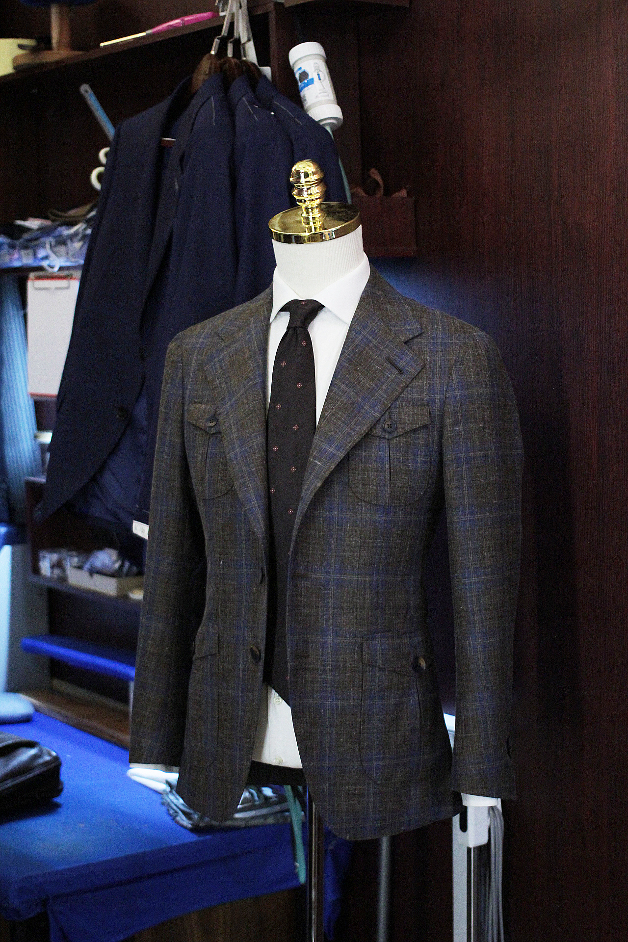 harrisons of edinburgh | Indigo | Singapore Tailor Made Suits | Single Breasted Suit | Side View.JPG