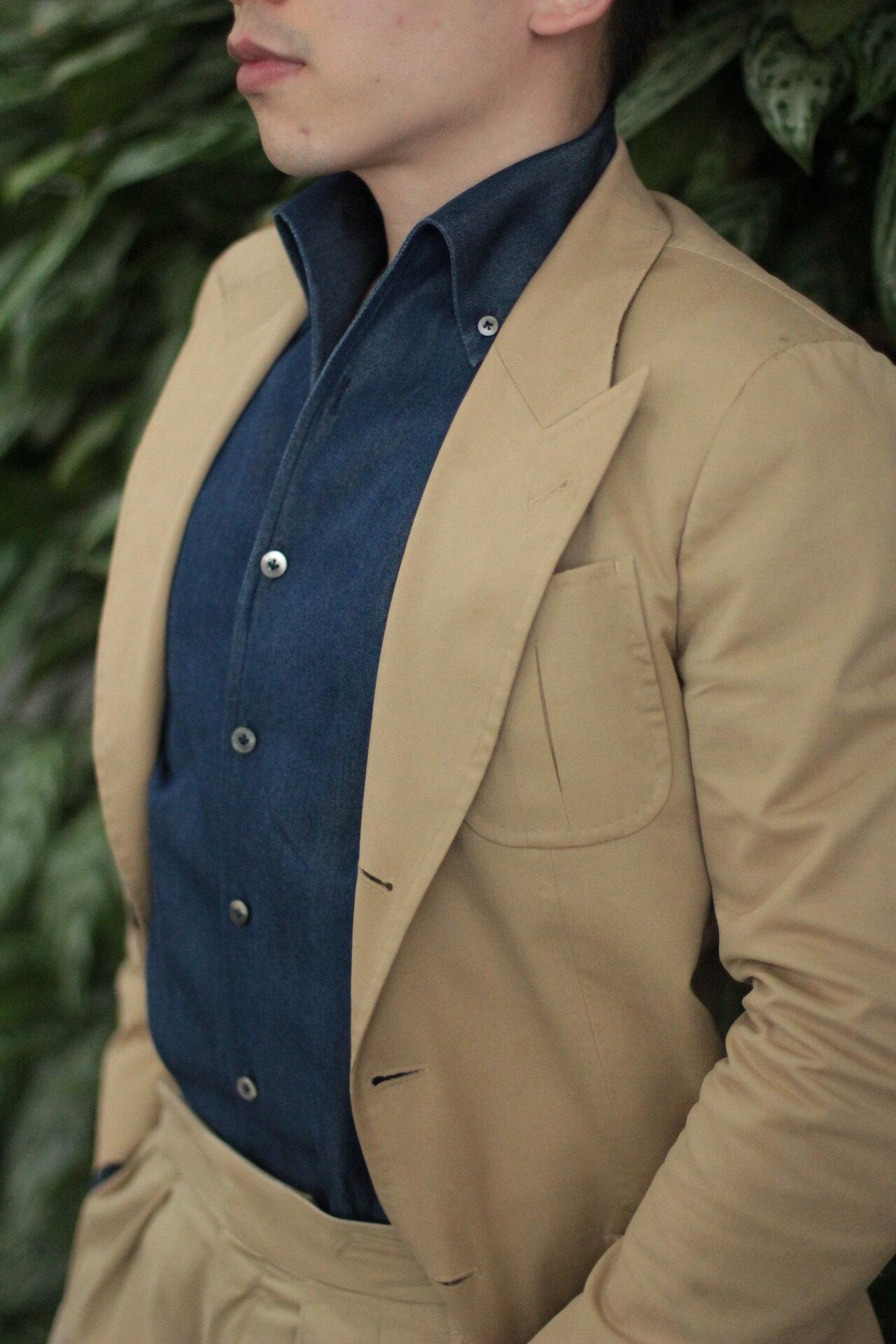 one piece collar chambray shirt.JPG