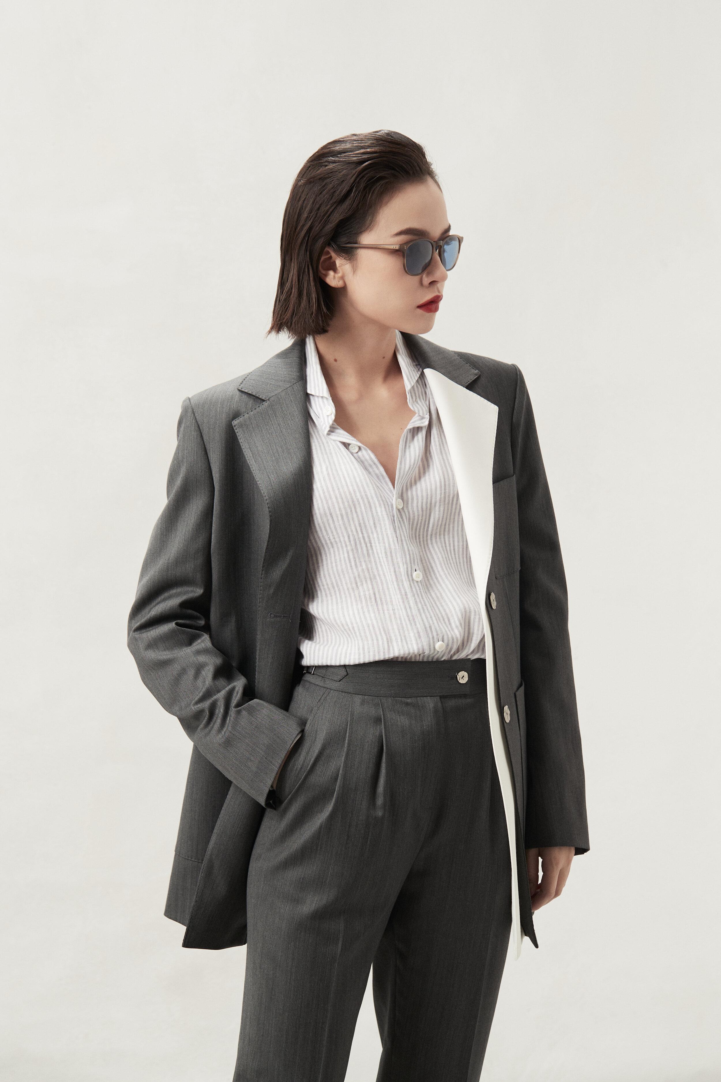 Made Suits Singapore Tailor Mafia Black Oversized Senorita