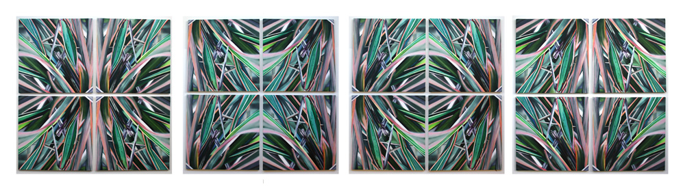 GARDEN ii CAN BE DISPLAYED IN MULTIPLE COMPOSITIONS BY ROTATING THE INDIVIDUAL CANVAS' |HERE ARE FOUR OF THOSE OPTIONS