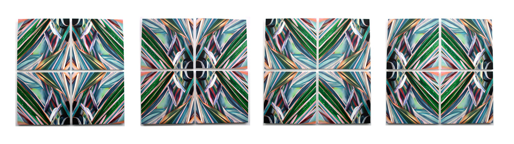 GARDEN iii CAN BE DISPLAYED IN MULTIPLE COMPOSITIONS BY ROTATING THE INDIVIDUAL CANVAS' |HERE ARE FOUR OF THOSE OPTIONS