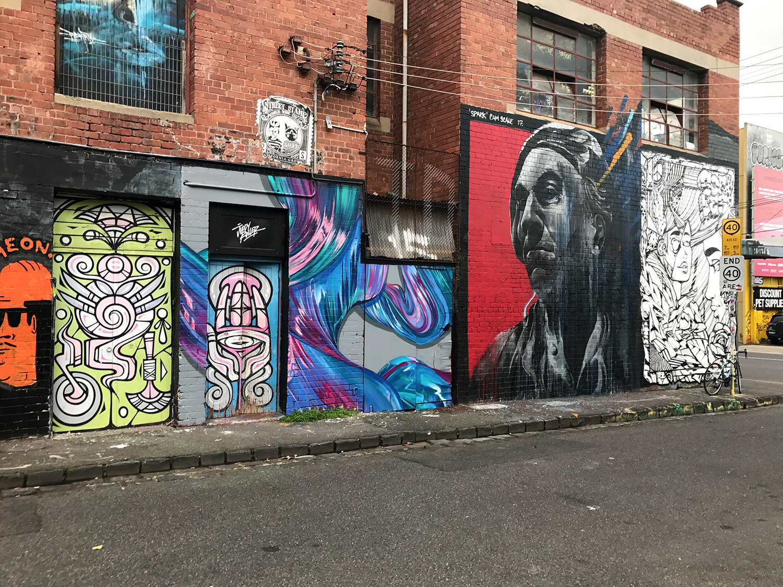 street view of Juddy Roller Mural