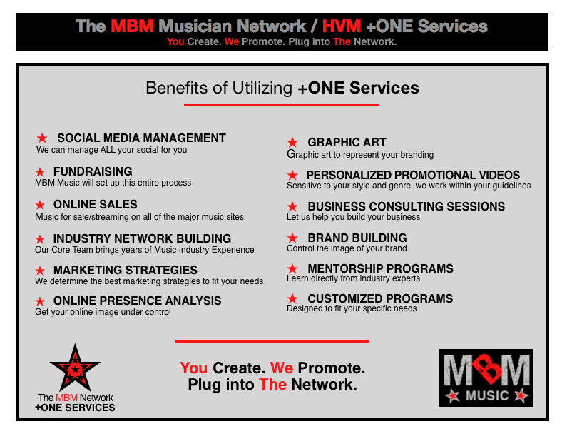 MBM Music Network & HiVolMusic +ONE Partnership Services