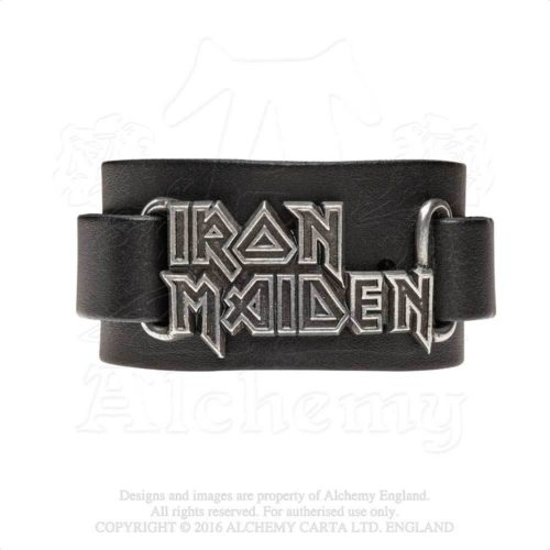 IRON MAIDEN LEATHER WRISTBAND -