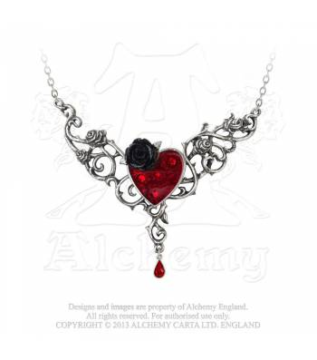 THE BLOOD ROSE HEART NECKLACE -