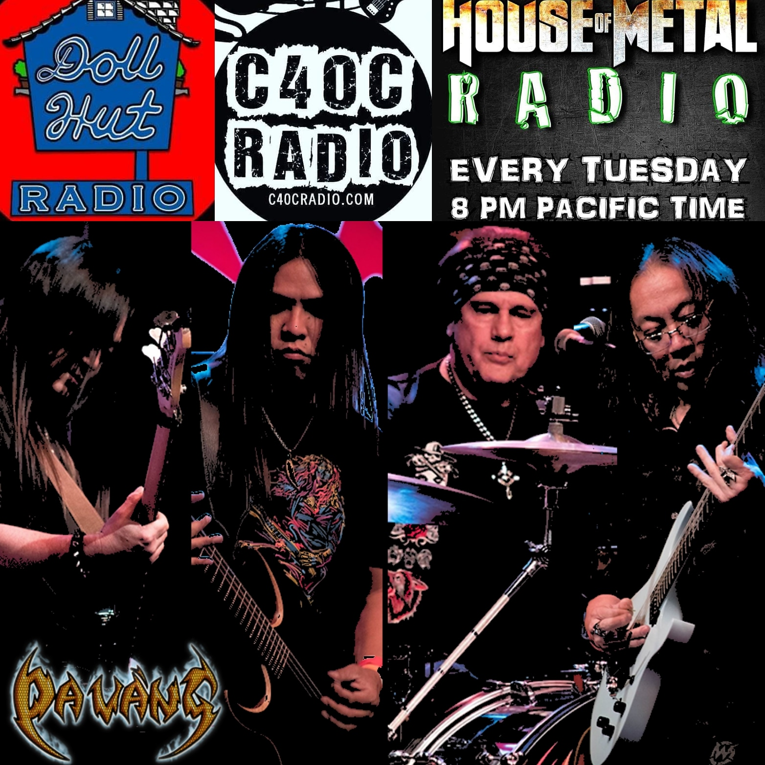 DaVang on House Of Metal August 27th. Live show broadcast and interview from World Famous Dollhut. With new single... Blood of the Motherland.