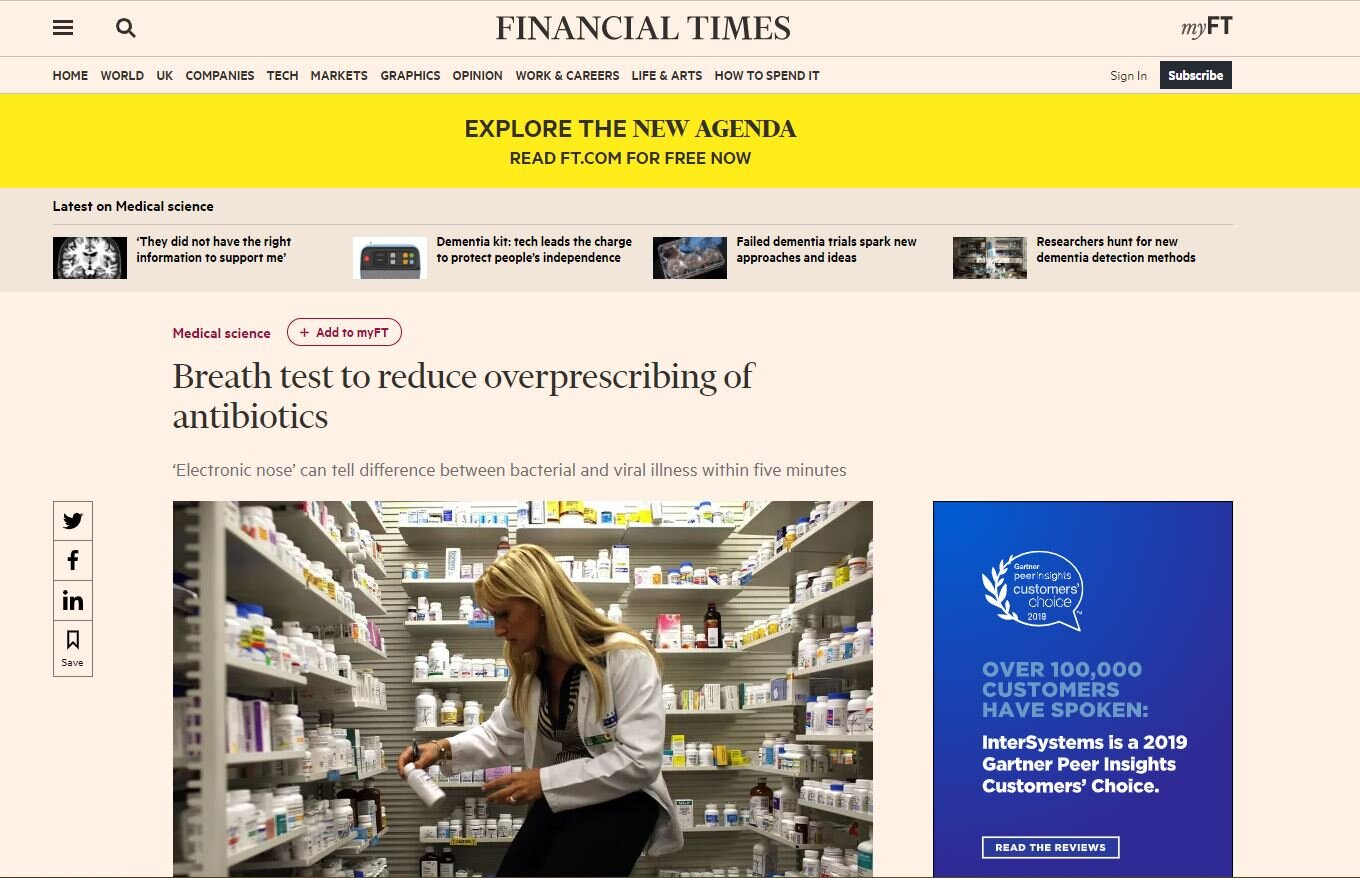 Click hear to read the latest article on the Financial Times -