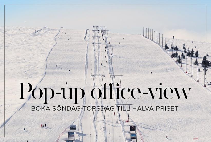 Pop up office på sälens Högfjällshotell