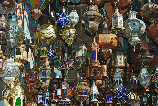 Lights in the souk