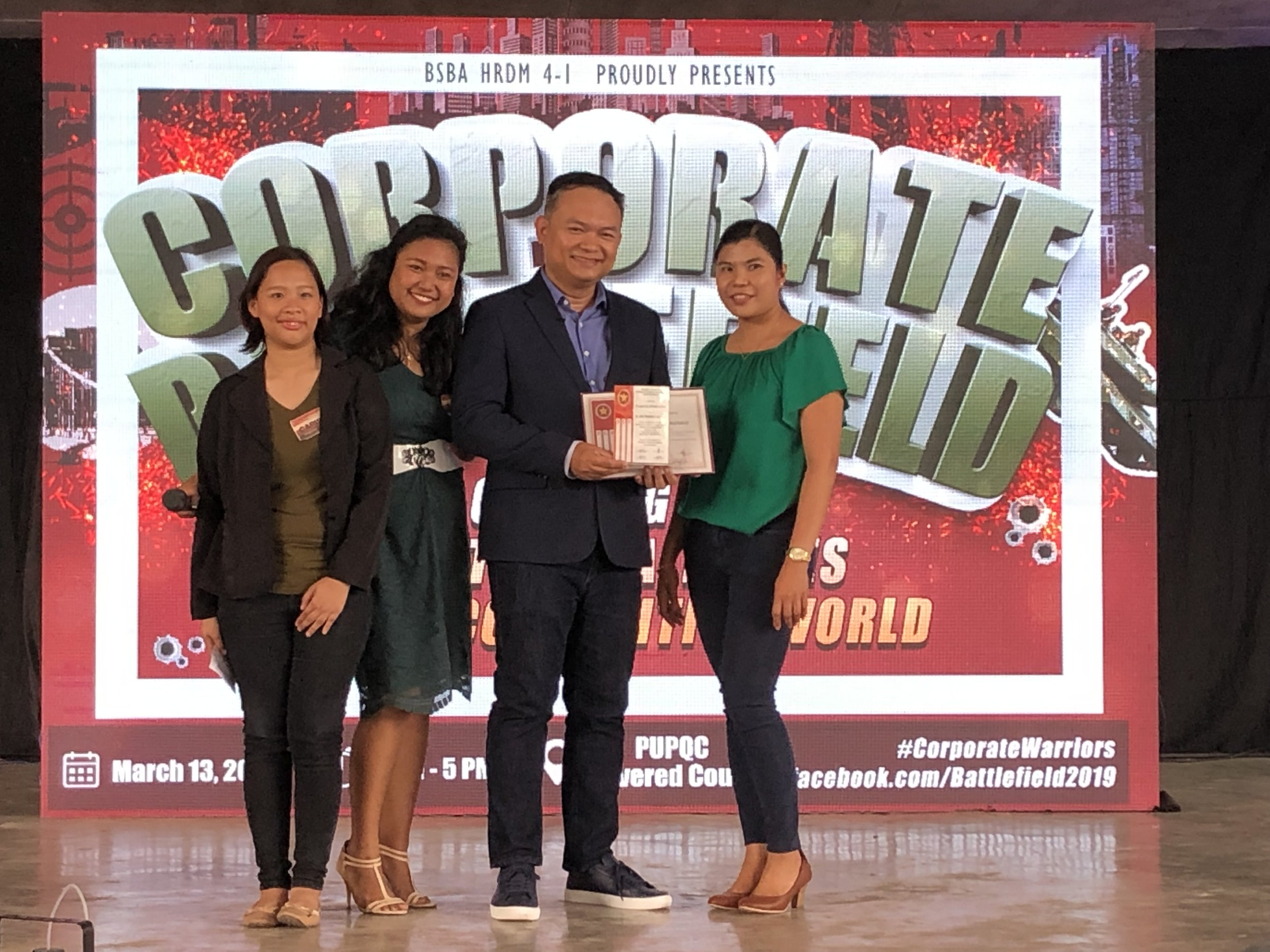 """2019 Guest speaker on """"Corporate Battlefield: Gearing Up for the Challenges of Competitive World"""" for Polytechnic University of the Philippines Quezon City. -"""