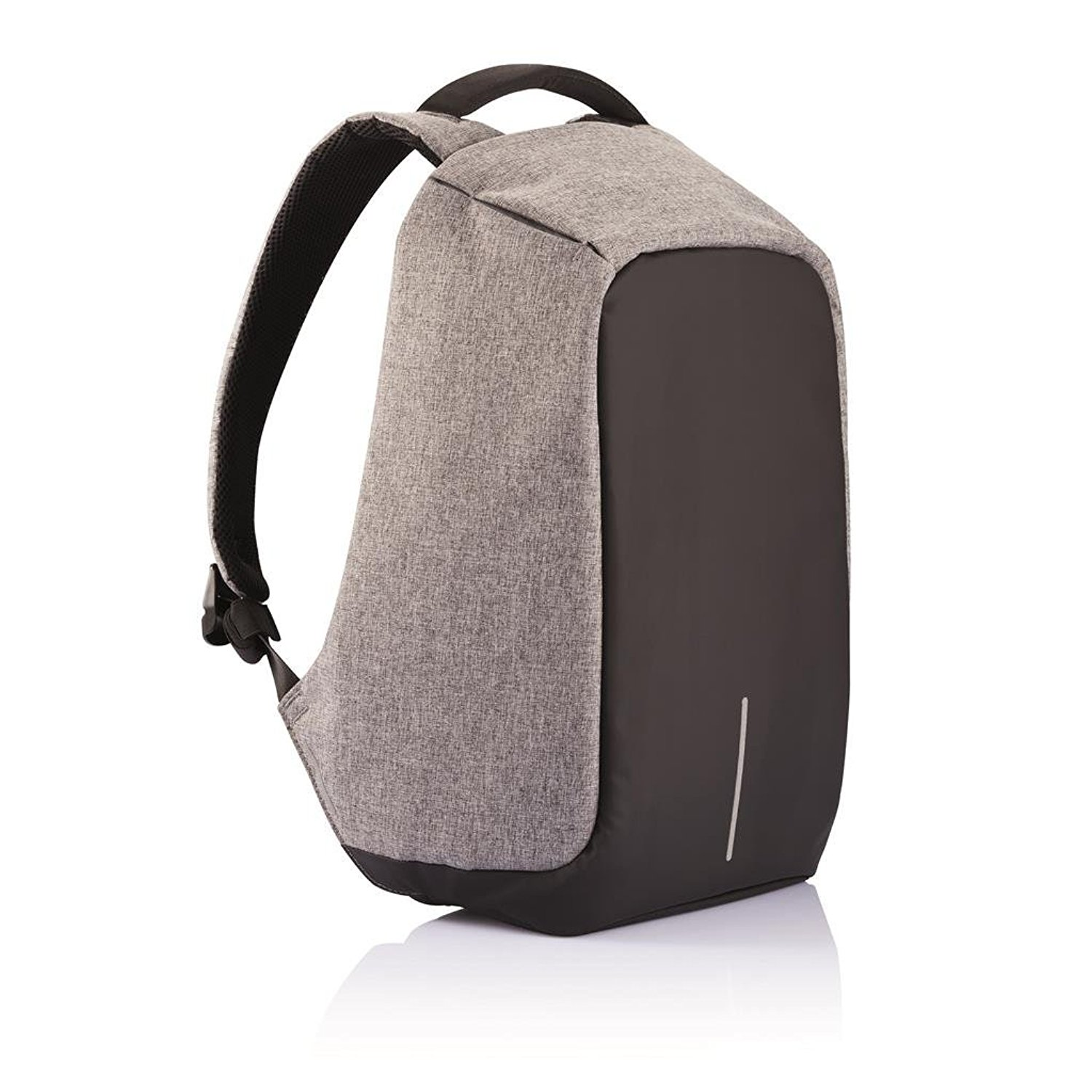 The original Bobby Anti-theft backpack - Bobby Anti-Theft backpack features cut-proof design, hidden zipper and secret pockets; Integrated USB; Charging port; Shockproof storage Design; illuminating safety strips; Water repellent fabric.