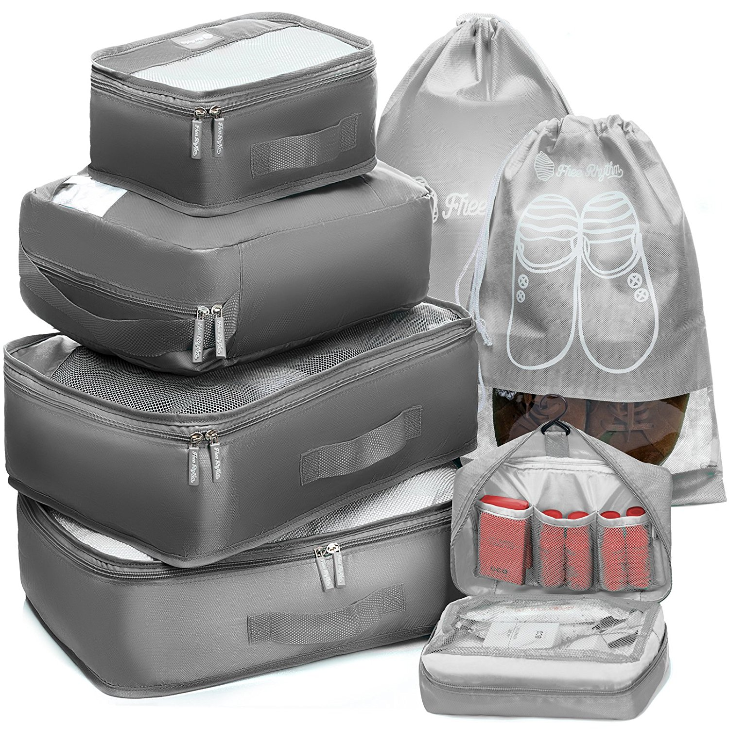 Packing Cubes - Organise your entire suitcase and forget about searching for some stuff for ages.