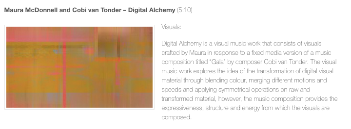 Digital Alchemy screened at Seeing Sound Symposium 2018