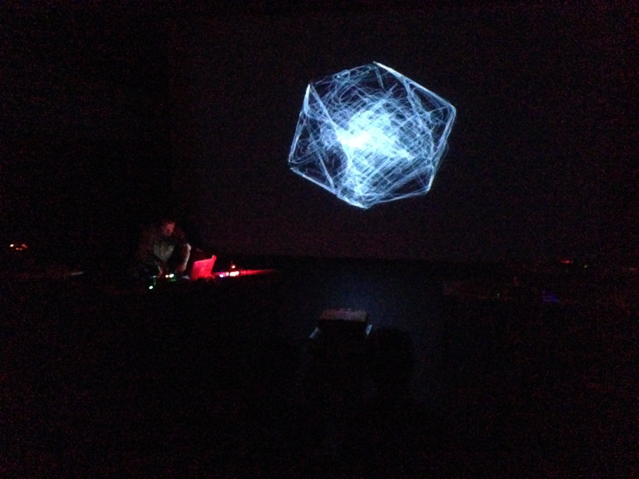Derek Holzier performs  The Vector Synthesis Project, Bath Spa, 2018