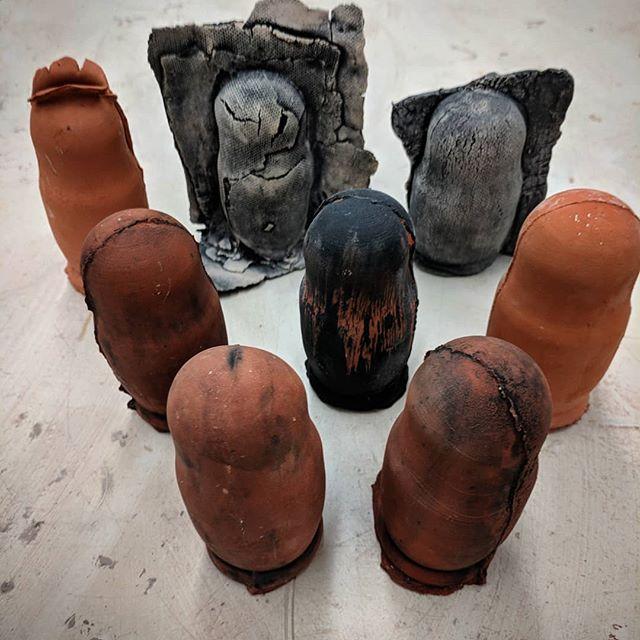 #matroyshka #ceramicsculptureculture #newwork #oldtheme