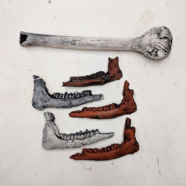 #ceramicsculpture #clayartifacts #newworks #claybones