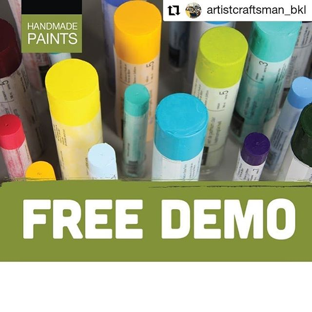 #Repost @artistcraftsman_bkl • • • • • • It's tomorrow!  R&F pigment stick demo with the amazing artist Kelly Anne McGrath @kelly.a.mcgrath 12-2pm right here at A&C.  #artclassnyc #artist&craftsnan #acscommunity #randfpigmentsticks