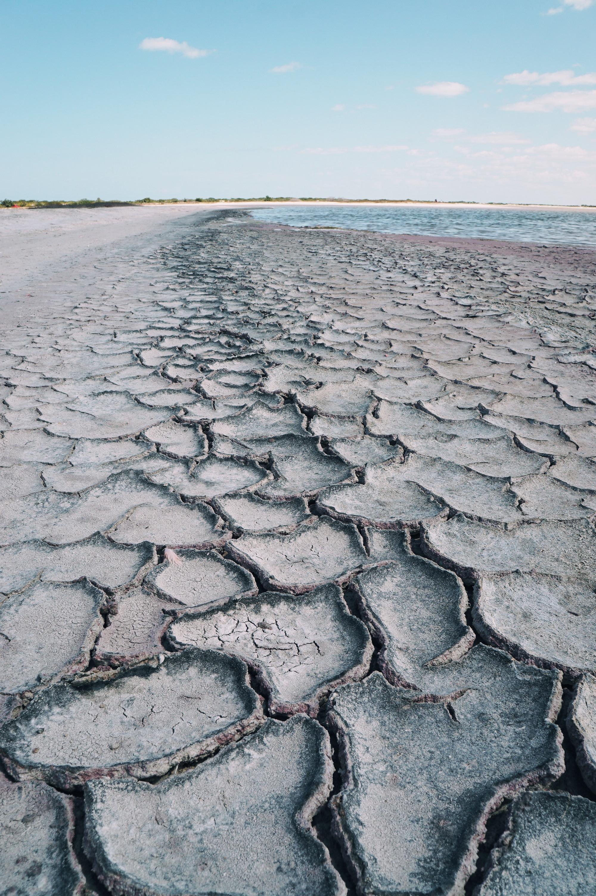 Salt lagoons in Las Coloradas, Mexico