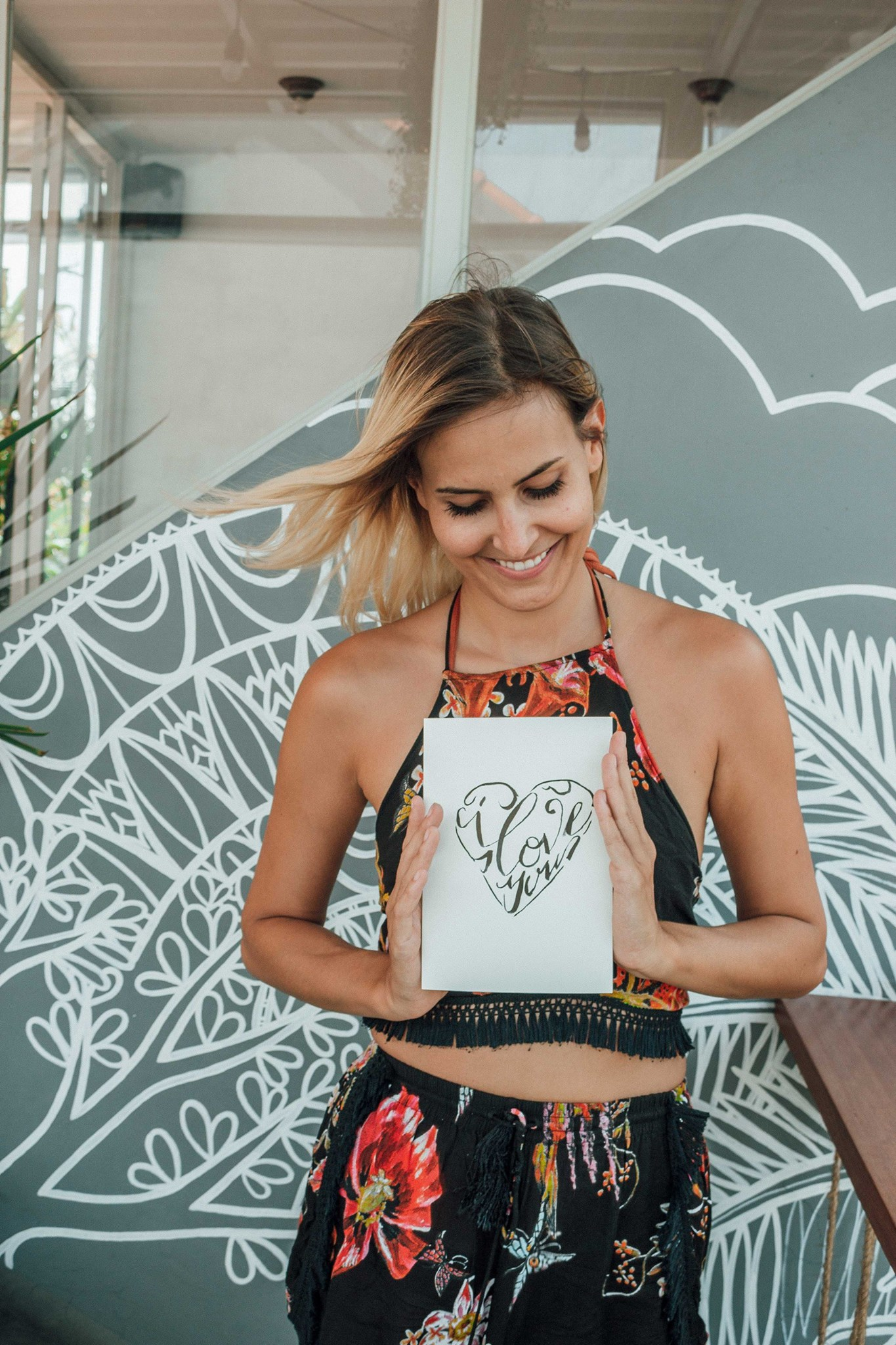 """Nadine Rohner    """"I attended a great workshop here in Bali and learned all about Brush Lettering &Calligraphy. Thanks so much for having me.Soon you will find everything on my Blog and I will explain how you can attend creative workshops in Bali!"""""""