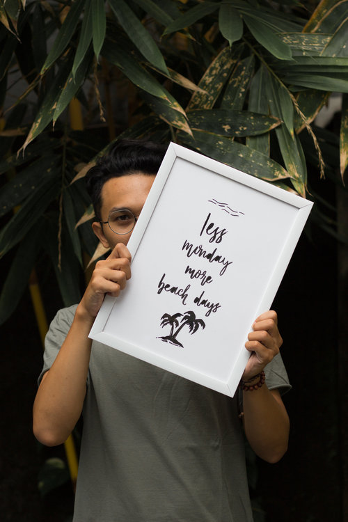 the art of calligraphy - Meet Osh a local artist in Bali...learn how he started creating and teaching others how to swirl the pen like a pro...Read more...