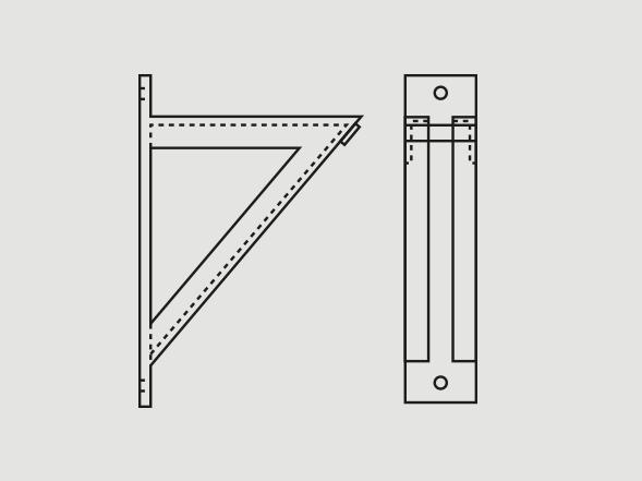 Medium-welded steel bracket - Learn more >