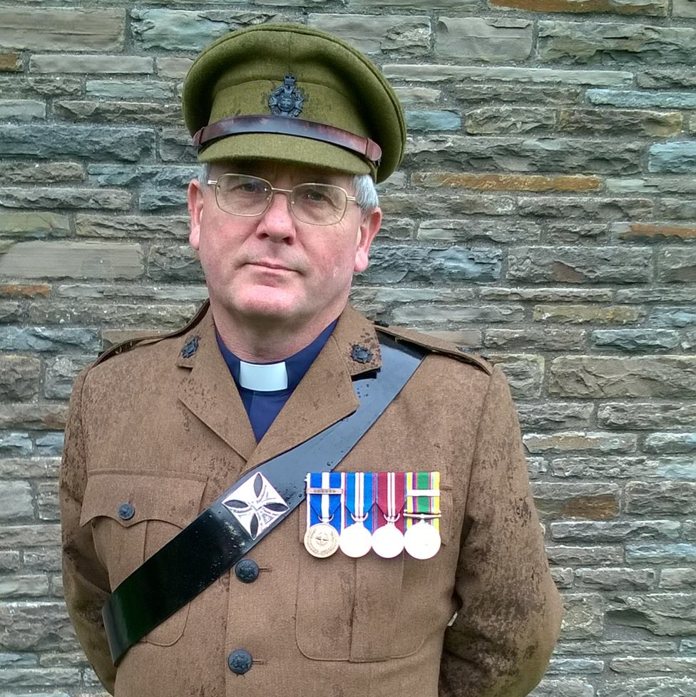 Rev. Phil Gullidge - Currently the Vicar of St. Illtuds Parish Church, Phil served in Bosnia as an Army chaplain, among his many other spiritual pursuits.