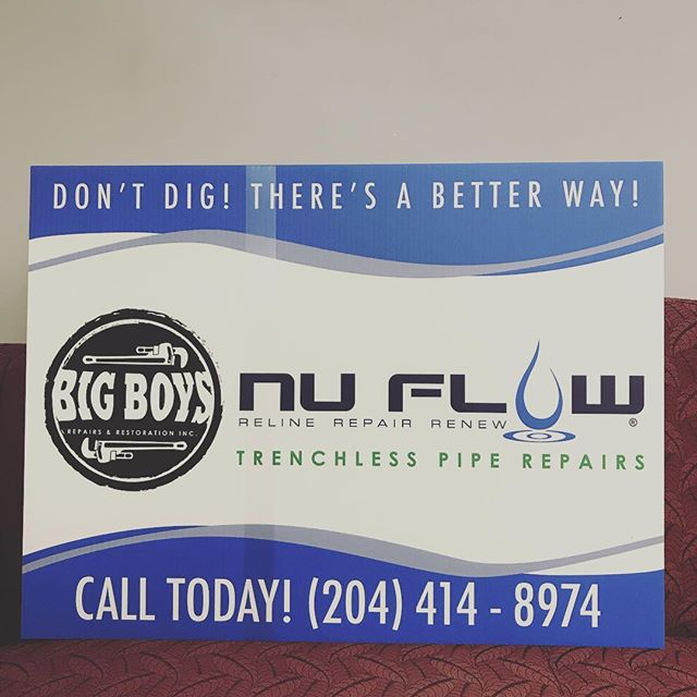 Sewer Problems? Give us a call or send us a quick e-mail! #Nuflow #TrenchlessPipeRepair #winnipeg #manitoba #bigboysrepairs