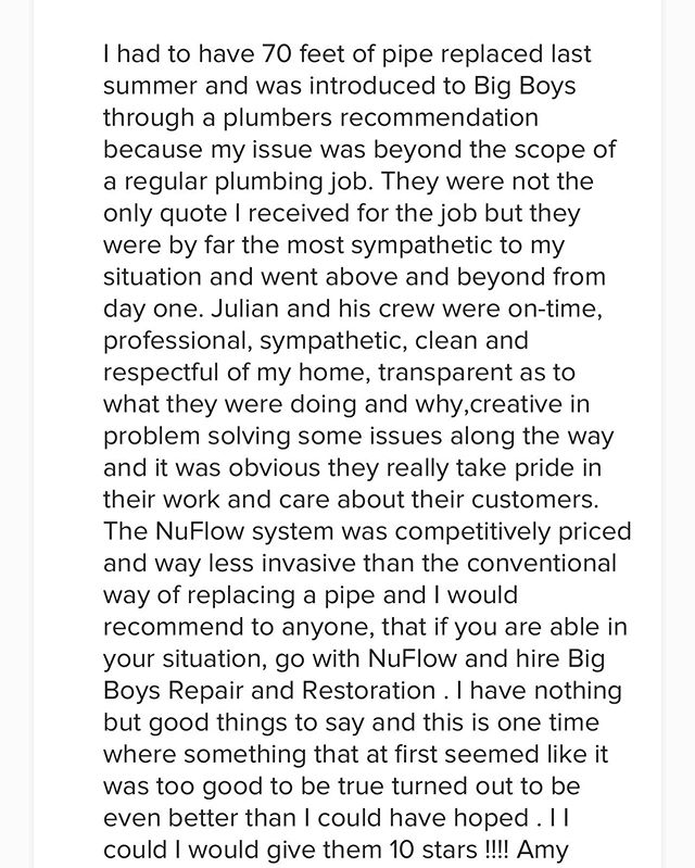 ⭐️⭐️⭐️⭐️😁Some reviews on our Page from amazing clients! Thank you again from all of us here at Big Boys Repairs! #bigboysrepairs #nuflow #winnipeg #manitoba