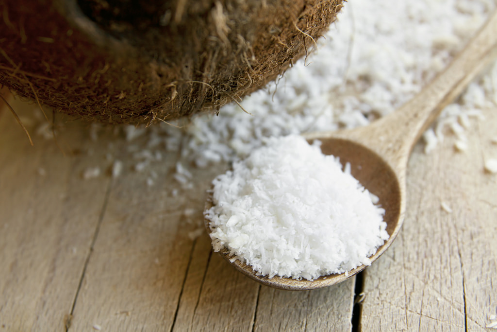Desiccated Coconut   Medium cut Full fat No sulfites Not sweetened Moisture Content <3% Free Fatty Acid <1%