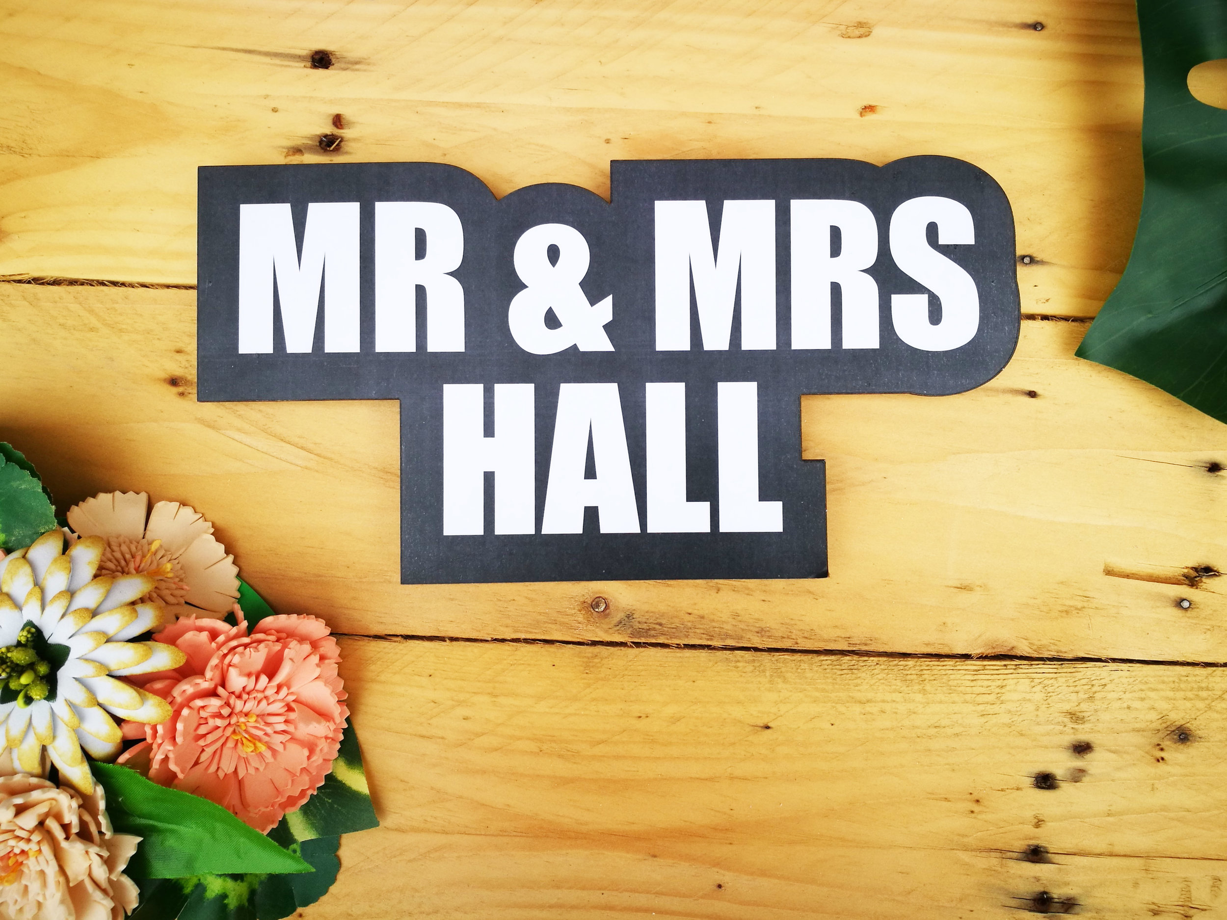 Custom Prop Signs - Make your booth experience even more bespoke with a customised prop sign!