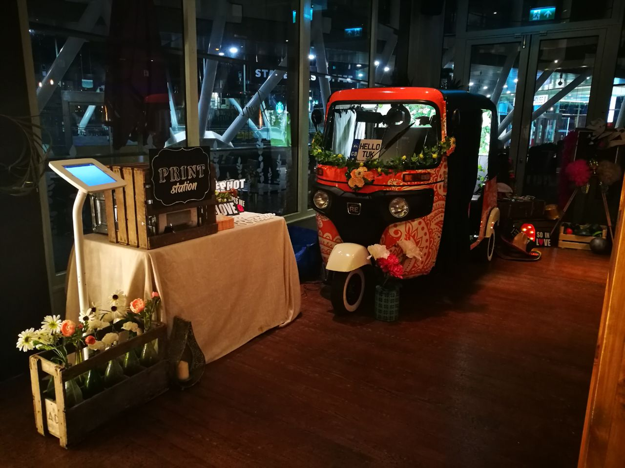 Extra Booth Time - Additional hire time can be added to keep the party rolling and is charged at a fixed hourly rate and must be agreed in advance when booking.