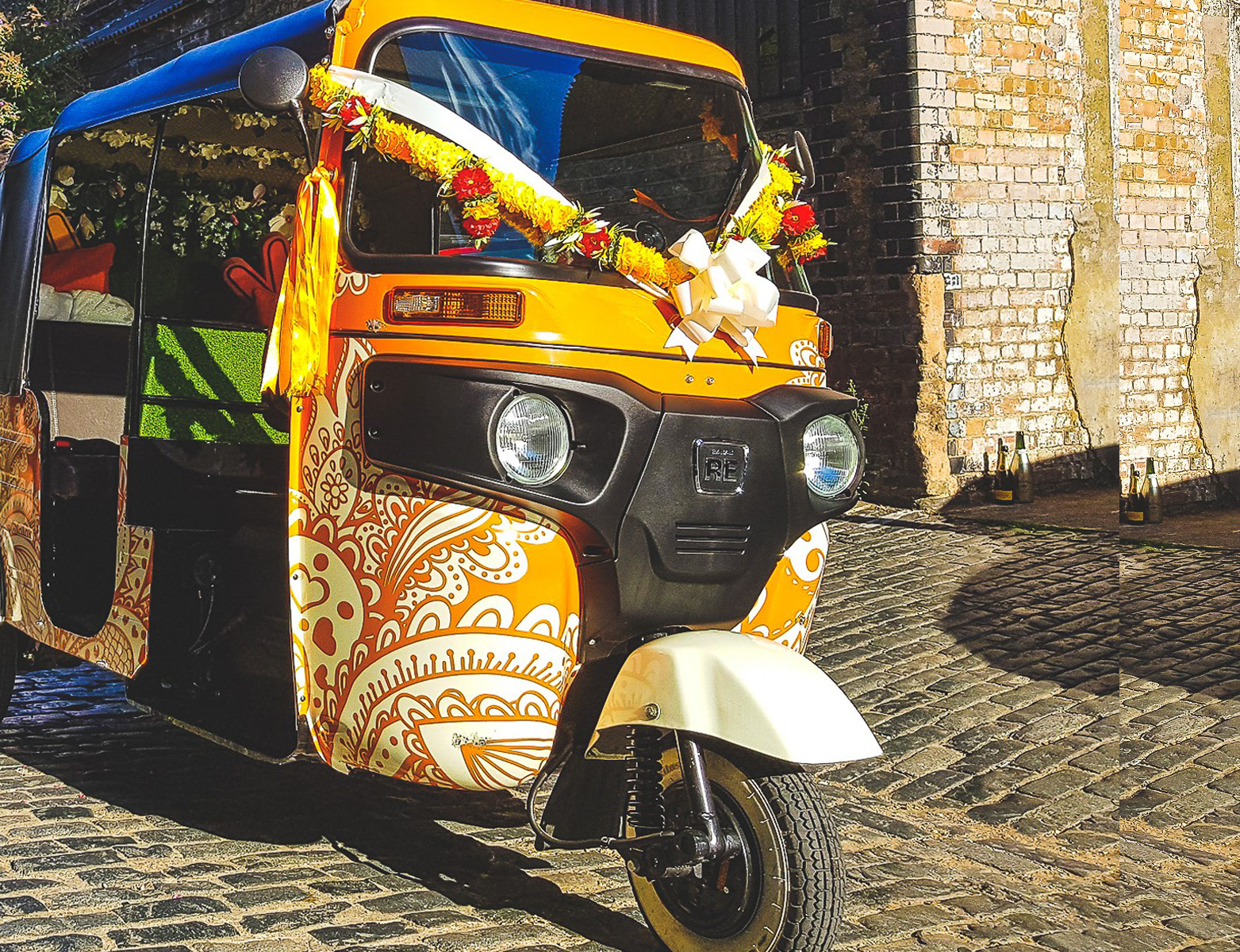 Hey there! - Did you say you want something different? Based in West Berkshire near Hungerford, we offer a funtastic range of services that will bring the unique to your event with our tuk tuk - nothing brings a smile like a tuk tuk!Choose from wedding transport, photo booth hire, head turning brand engagement or our fabulous chai station. Good vibes guaranteed!We love to travel and so does our tuk tuk, so we provide our services across the whole of Berkshire, Oxfordshire, Buckinghamshire, Surrey, Hampshire, Gloucestershire, Wiltshire, Somerset and London too!Learn More