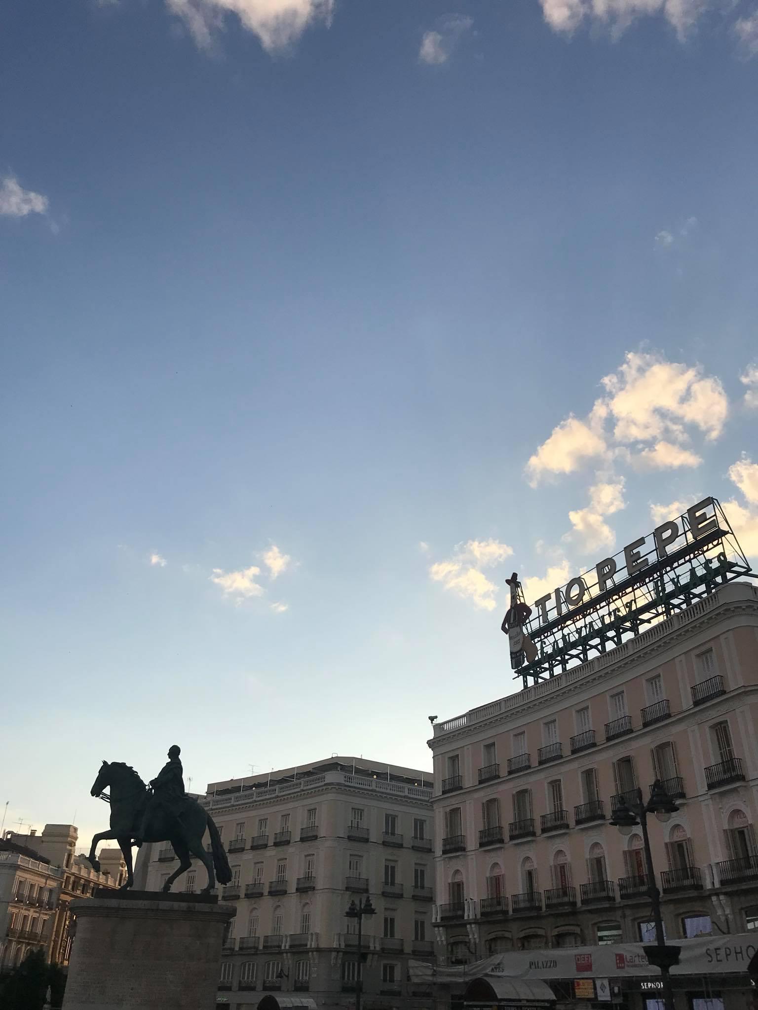Puerta del Sol, Madrid at golden hour
