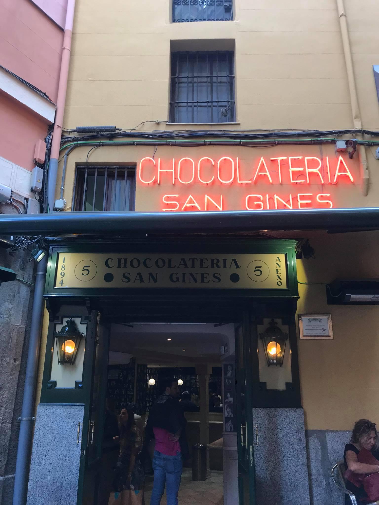 The famous Chocolatería San Ginés