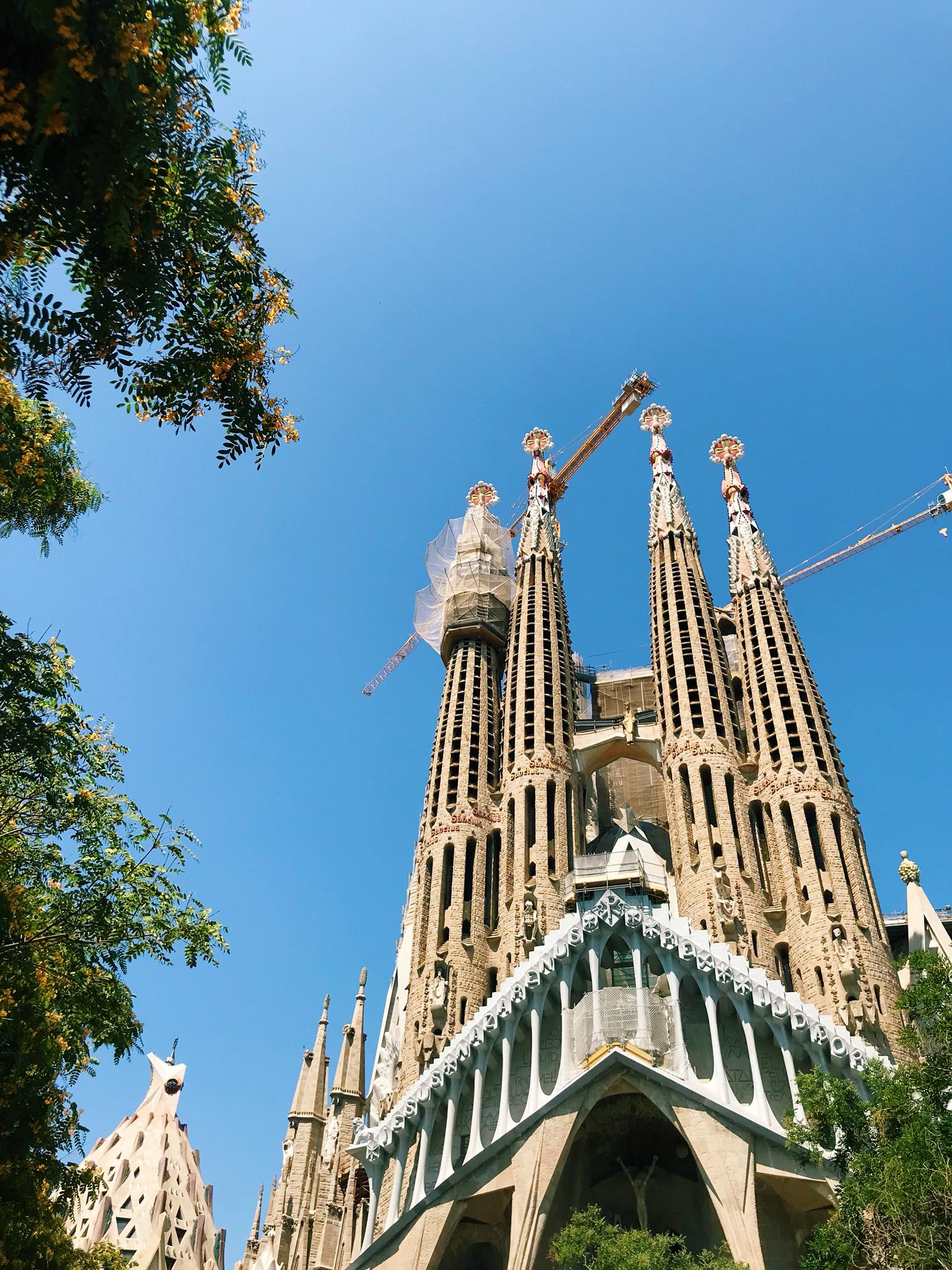 Sagrada Familia exterior, Barcelona