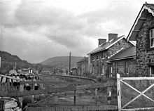 The remains of Builth Wells railway station in 1967