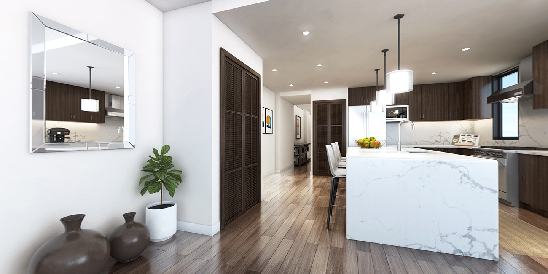 3 bedroom luxury condos in Seattle - kitchen - The Pinnacle at Alki