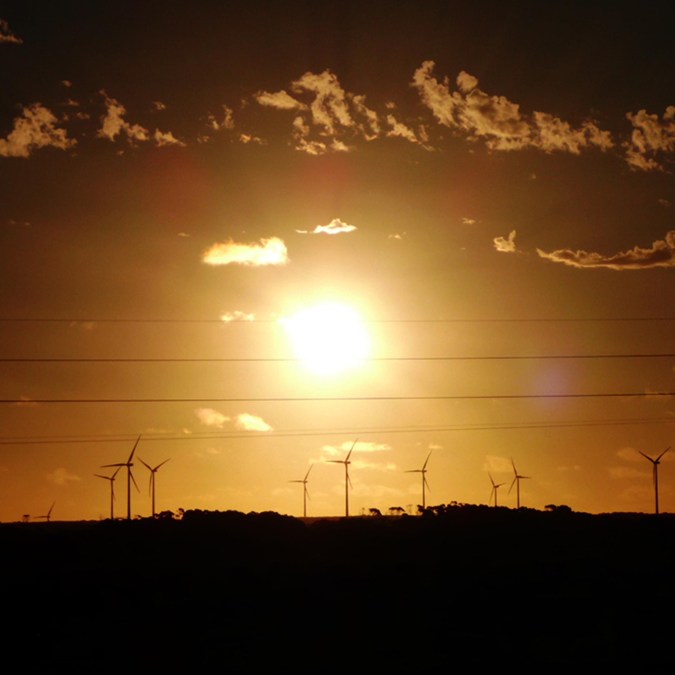 Woolnorth sunset flare, 29.12.07