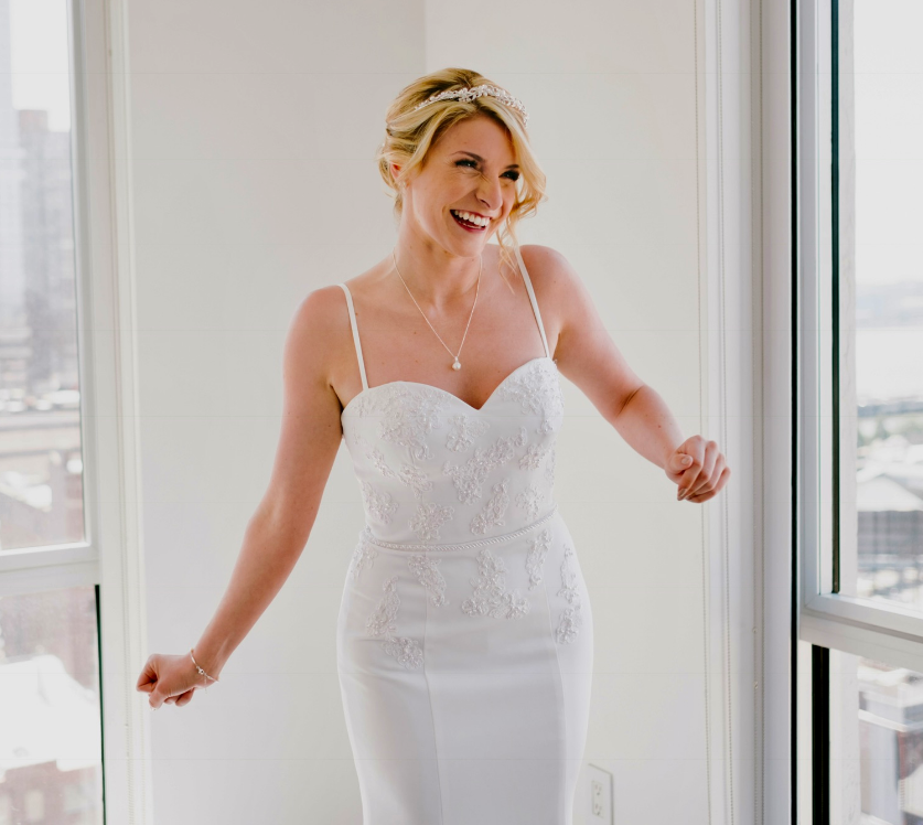 That's me doing an excited dance right before my own NYC wedding :-D