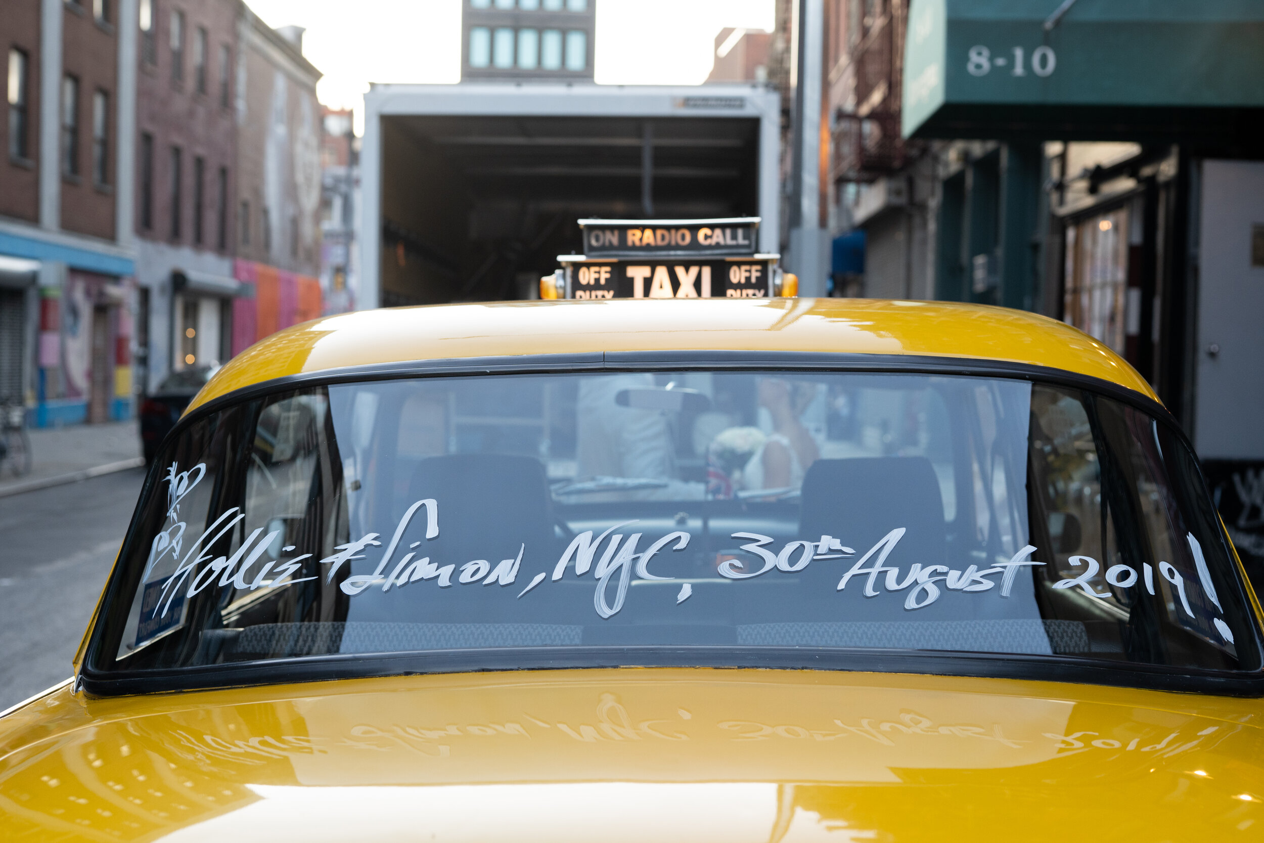 Married in New York City Checker Cab