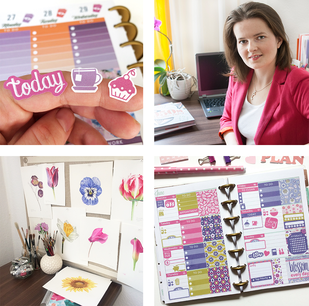 Welcome! Thank you for stopping by to take a look at my website. - My name is Magdalena and I help busy women organize their days, plan their goals & get creative with beautiful & affordable printable planner stickers.