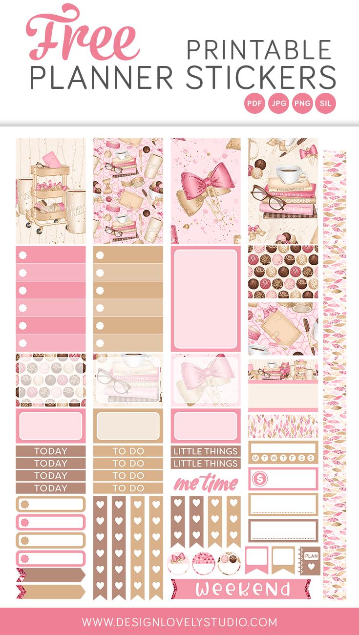 Free Printable Planner Girl Stickers Design Lovely Studio