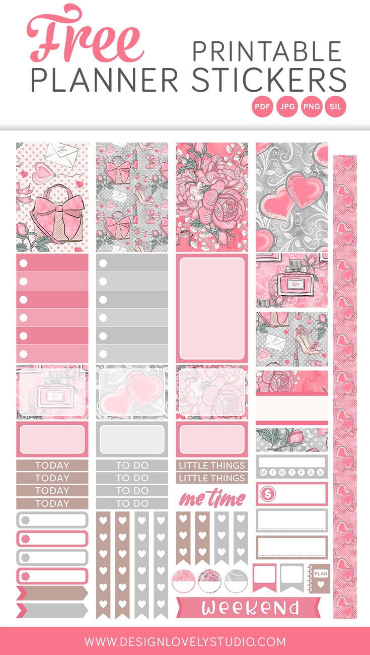 image about Free Printable Stickers for Planners named Freebies Structure Beautiful Studio