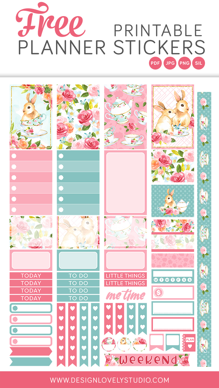 photograph about Free Planner Sticker Printables named Freebies Style and design Stunning Studio