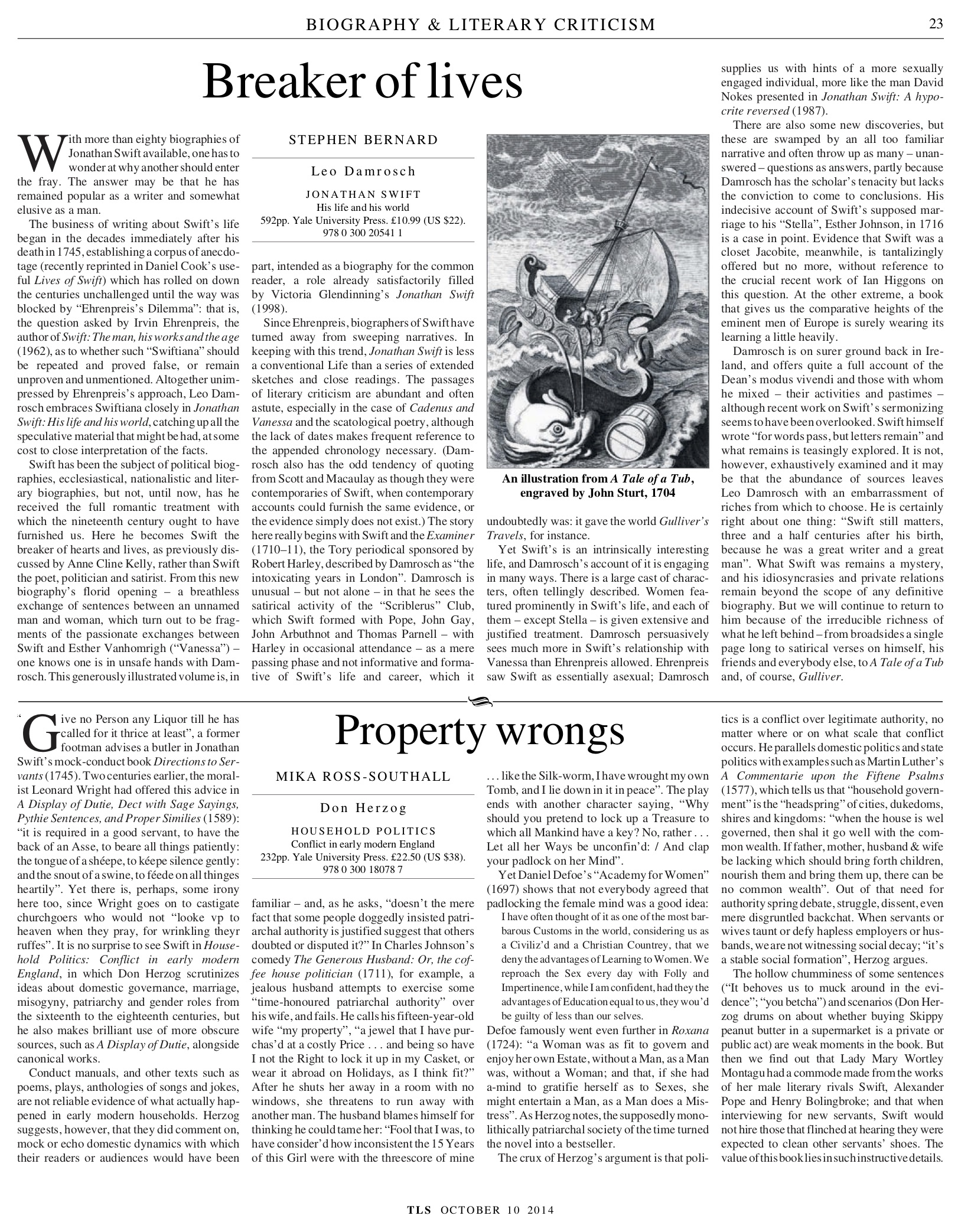 Property wrongs, Don Herzog, Published in The Times Literary Supplement, October 10, 2014